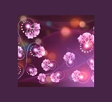 Abstract wavy purple background with floral and swirls 2 T-Shirt