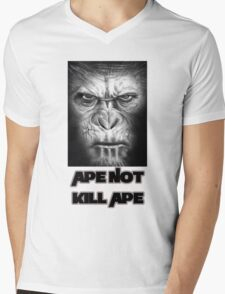 Caesar | Ape Not Kill Ape | Dawn of the Planet of the Apes Mens V-Neck T-Shirt