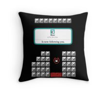 Boo is now following you! Throw Pillow