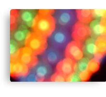 Abstract shiny background with colorful bokeh lights Canvas Print
