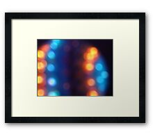 Abstract shiny background with colorful bokeh lights 2 Framed Print