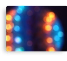 Abstract shiny background with colorful bokeh lights 2 Canvas Print
