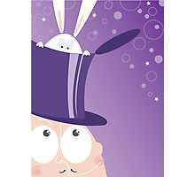 Magician and a bunny Photographic Print