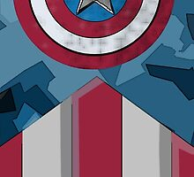 Captain America phone case by Jake Harrington
