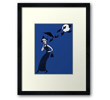 Weird woman with midnight bats Framed Print