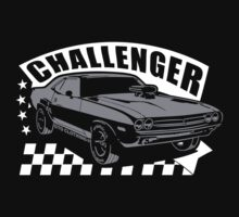 Dodge Challenger | Grey - White by GTOclothing