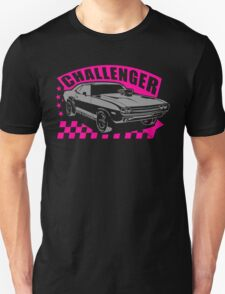 Dodge Challenger Girl Edition | Grey - Pink Unisex T-Shirt