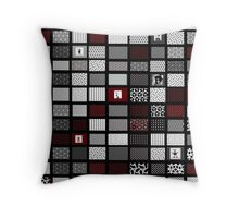 red, black and white interior design and gifts Throw Pillow