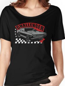Dodge Challenger | Grey - Red - White Women's Relaxed Fit T-Shirt