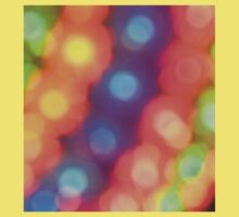 Abstract shiny background with colorful bokeh lights Kids Tee