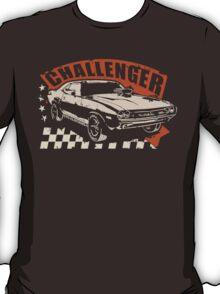 Dodge Challenger Vintage | Brown T-Shirt