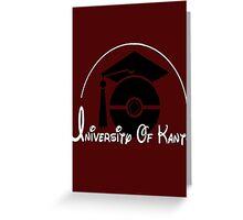 Pokemon 'University of Kanto' Greeting Card