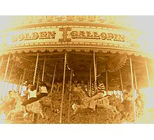 THE MERRY-GO-ROUND Photographic Print