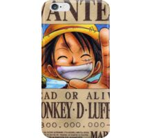 WANTED ! Luffy - One Piece iPhone Case/Skin