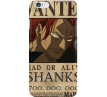 WANTED ! Shanks - One Piece iPhone Case/Skin