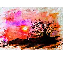 East Texas Sunset - Watercolor Photographic Print