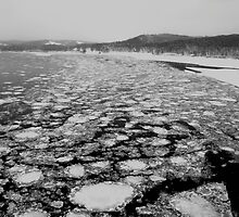 Ice on the Missouri River by Dawne Olson