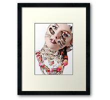 Queen of Shoelace in space- variation Framed Print