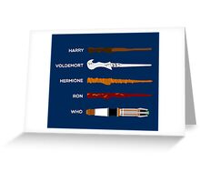 Magic Wands Greeting Card