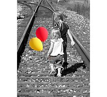 On The Right Track Photographic Print