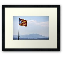 freedom flag of Catalonia Framed Print