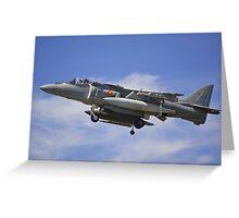 Harrier Jump Jet Greeting Card