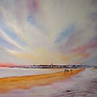 Winter on St Andrews - Scotland by Beatrice Cloake Pasquier