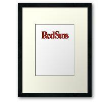 Akagi Redsuns Logo Framed Print