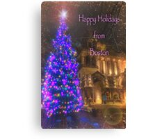 Trinity Tree – Happy Holidays from Boston Canvas Print