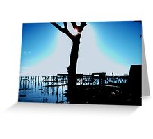 SILLOUETTE OVER RATSNEST RD. Greeting Card