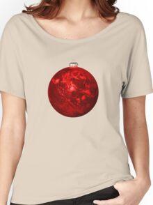 Chrismas Ball Earth Women's Relaxed Fit T-Shirt