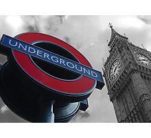 Big Ben and Underground Photographic Print