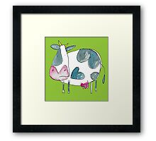 A Cow in a Field  Framed Print