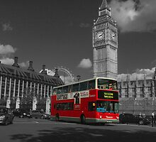 Big Ben and London Bus by 2Andys