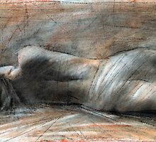 lying figure study 14 by cliffwarner