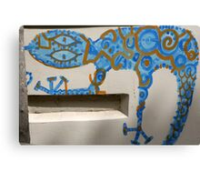 Graffiti Gecko Canvas Print