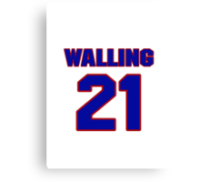 National baseball player Denny Walling jersey 21 Canvas Print