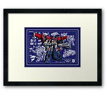 Cybertron Super Optimus Prime Framed Print