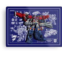 Cybertron Super Optimus Prime Metal Print