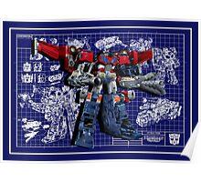 Cybertron Super Optimus Prime Poster