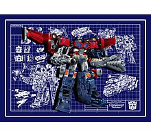 Cybertron Super Optimus Prime Photographic Print