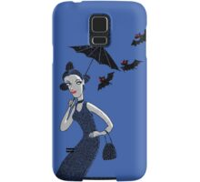 Weird woman with midnight bats Samsung Galaxy Case/Skin