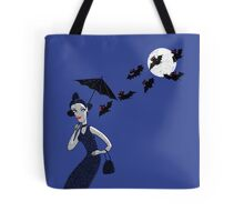Weird woman with midnight bats Tote Bag