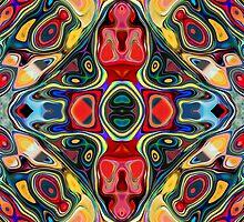 Abstract Shapes Mandala by Phil Perkins