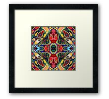 Abstract Shapes Mandala Framed Print