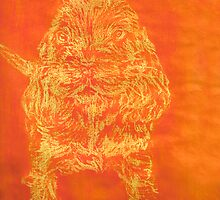 """Orange Puppy"" (monochromatic hue series) by Mui-Ling Teh"
