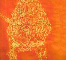 """Orange Puppy"" (monochromatic hue series) by Mui-Ling Teh"