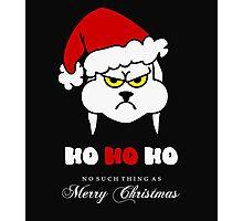 HoHoHo – Bunny, the grumpy X-Mas Temp  Photographic Print