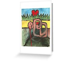 OUCH MY LITTLE HEART, BETTER PRETEND I'M OK. Greeting Card