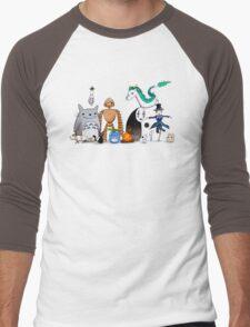 Ghibli Friends  Men's Baseball ¾ T-Shirt